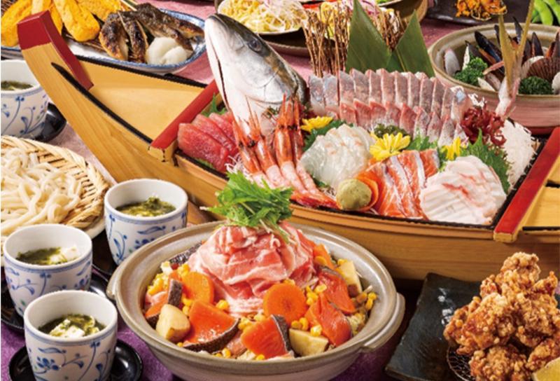 『北海道堪能!肉魚満点コース(全8品)』